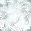 Vintage christmas background from snowflakes shining applique Royalty Free Stock Images