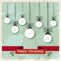 Vintage Christmas baubles buttons Stock Photo