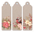 Vintage Christmas Bookmark Royalty Free Stock Photo