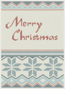 Vintage christmas card Stock Photos