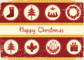 Vintage Christmas card for background Royalty Free Stock Photography