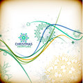 Vintage christmas card with decorative snowflakes this is file of eps format Stock Photos