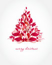 Starodávny vianočný pozdrav dovolenka strom na