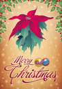 Vintage Christmas card - poster design Royalty Free Stock Photo