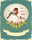 .Vintage christmas card for text Royalty Free Stock Photography