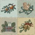 Vintage christmas cards Stock Images