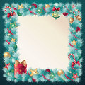 Vintage Christmas conifer decoration Stock Images