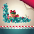 Vintage Christmas decoration elements Royalty Free Stock Photos