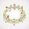 Vintage christmas elements mistletoe design eps file cute decoration composition organized in layers for easy editing Royalty Free Stock Photo