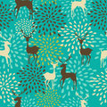 Vintage Christmas elements seamless pattern backgr