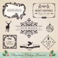 Vintage christmas elements set Royalty Free Stock Image