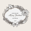 Vintage christmas greeting card. Happy new year Royalty Free Stock Photo