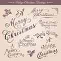 Vintage Christmas Greetings Royalty Free Stock Photos