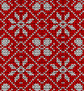 Vintage Christmas knitted pattern Stock Images