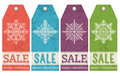Vintage christmas labels with sale offer vector illustration Royalty Free Stock Photography