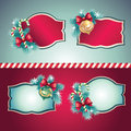 Vintage Christmas labels set Royalty Free Stock Photography