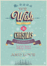 Vintage christmas poster vector illustration Royalty Free Stock Photo