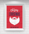 Vintage christmas poster vector illustration Royalty Free Stock Images