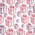 Vintage christmas presents seamless pattern backgr elements and gifts boxes background eps vector file organized in layers for Royalty Free Stock Photo