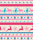 Vintage christmas reindeers seamless pattern backg elements reindeer and presents background eps vector file organized in layers Royalty Free Stock Photos