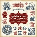 Vintage Christmas Set Royalty Free Stock Photo