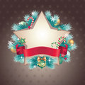 Vintage Christmas star shape banner Royalty Free Stock Photo