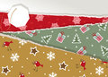 Vintage Christmas torn paper Royalty Free Stock Photo