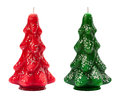 Vintage Christmas Tree Candles from the 1940s. Royalty Free Stock Photo