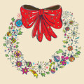 Vintage Christmas wreath Royalty Free Stock Photo