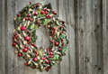 Vintage Christmas wreath Stock Image