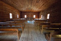 Vintage church interior Royalty Free Stock Photo