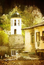 Vintage church monastery with in bulgarian village Stock Photos