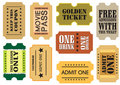 Vintage cinema tickets Royalty Free Stock Image