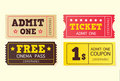 Vintage cinema tickets Stock Image