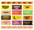 Vintage cinema tickets. BIG COLLECTION. Royalty Free Stock Photos