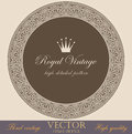 Vintage circle borders and frames set. Royalty Free Stock Images