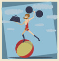 Vintage Circus StrongMan Stock Photography