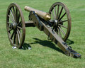Vintage civil war canon two Royalty Free Stock Image