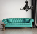 Vintage classic elegant living room Royalty Free Stock Photography