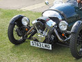 Vintage classic morgan three wheeler motorcar Royalty Free Stock Photo