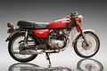 Vintage Classic motorcycle honda 125 cc. Editorial Use Only. Use Royalty Free Stock Photo