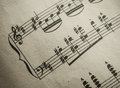 Vintage Classical Music Score Royalty Free Stock Images