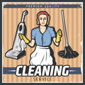 Vintage Cleaning Poster