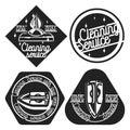 Vintage cleaning service emblems
