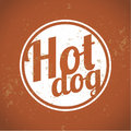 Vintage clip art hot dog Stock Images