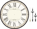 Vintage clock face template Royalty Free Stock Photo