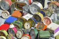stock image of  Vintage Clock at a flea market in Portugal