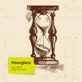 Vintage clock hourglass