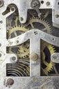 Picture : Vintage clock mechanism concept  technology
