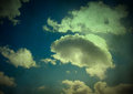 Vintage clouds background retro grunge with dust specks Stock Photos